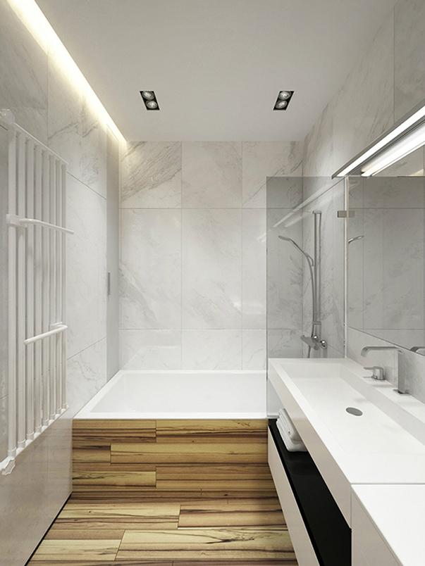минимализм в интерьере малогабаритной квартиры ванная