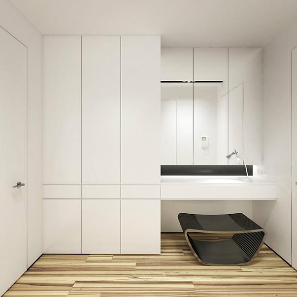 минимализм в интерьере однокомнатной квартиры