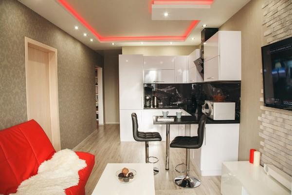модный дизайн кухни студии