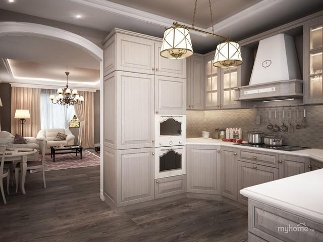 небольшая кухня в кухне гостиной фото дизайна