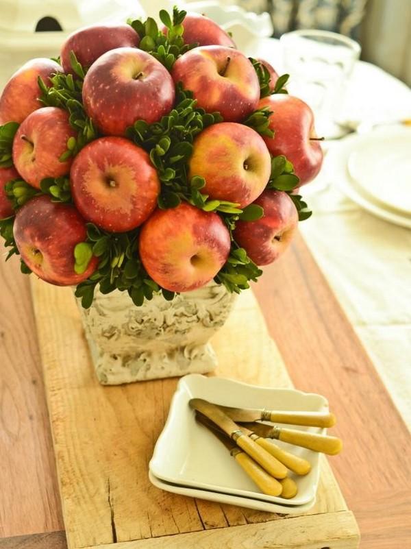 осенние композиции из фруктов яблоко