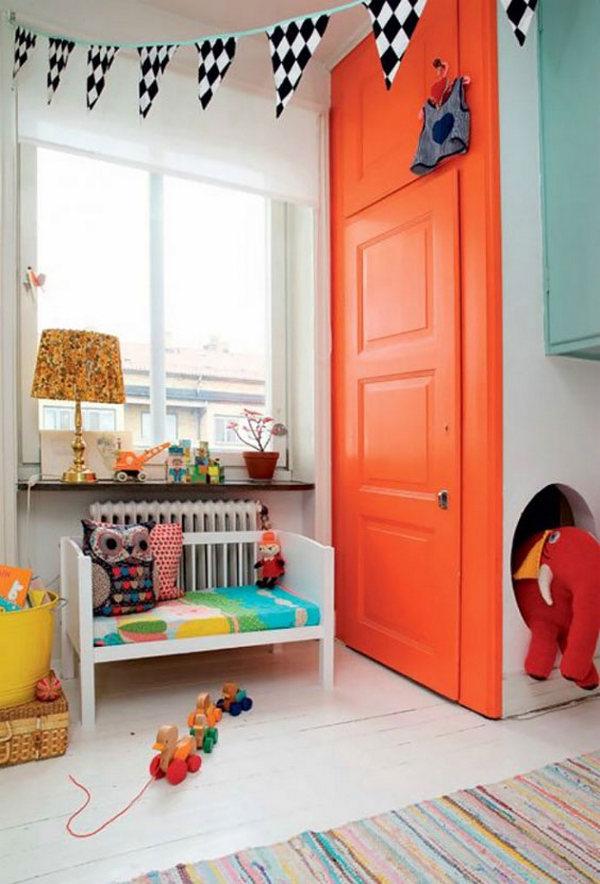 осенний декор комнаты для девочки пример