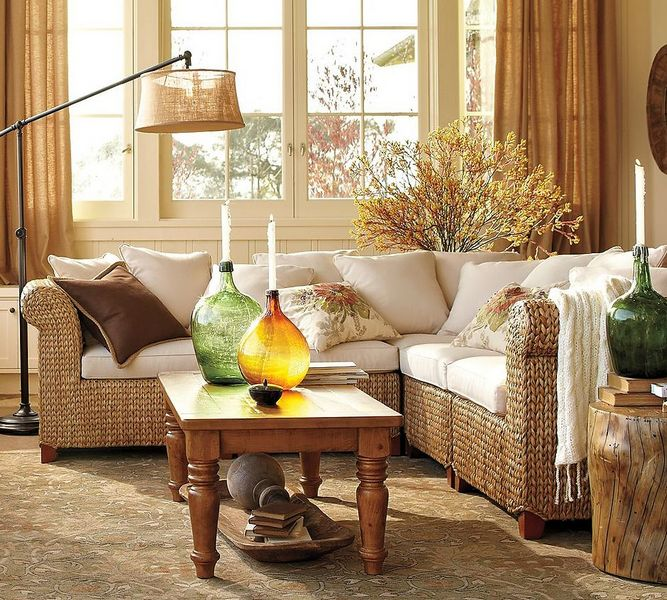 осенний декор комнаты фото гостиная