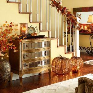 осенний декор комнаты гостиная