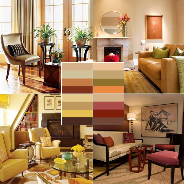 осенний декор комнаты цвета