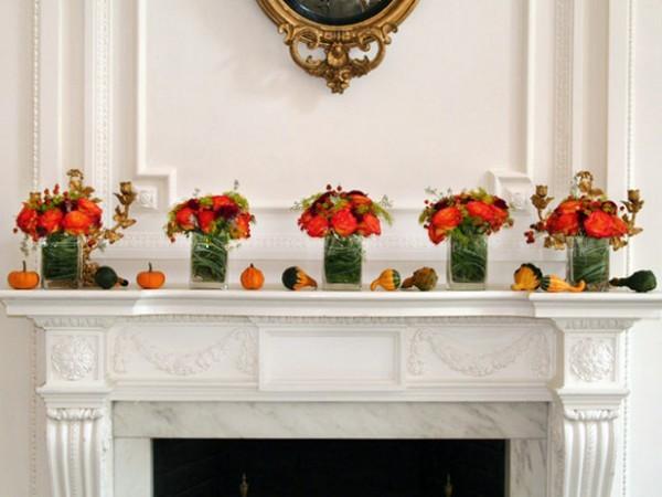 осенний декор стола своими руками для камина