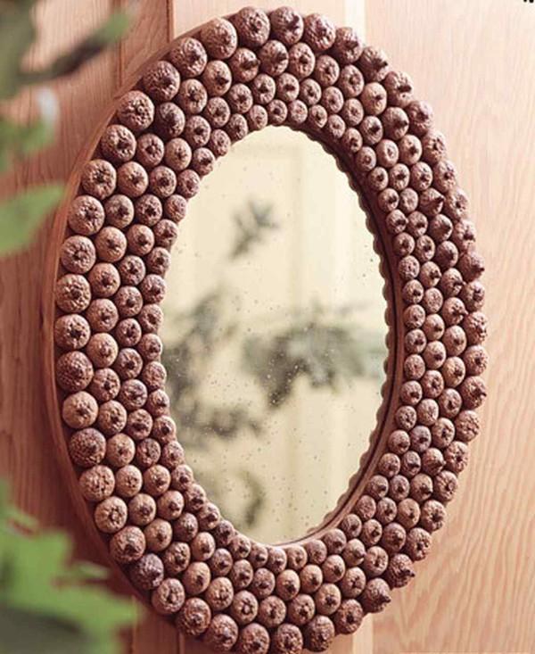 осенний декор своими руками рамка для зеркала