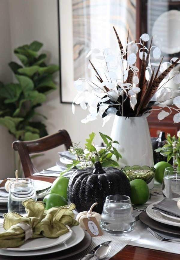 осенний декор своими руками украшение чёрная тыква
