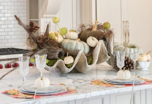 осенний декор своими руками венок декор обеденного стола