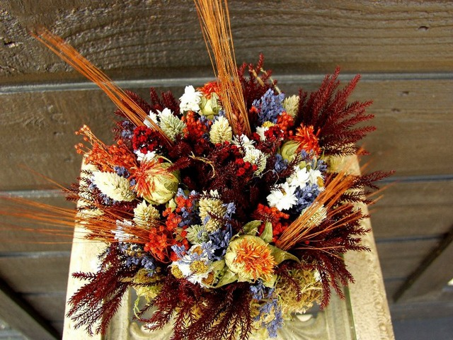 осенняя композиция своими руками сухоцвет