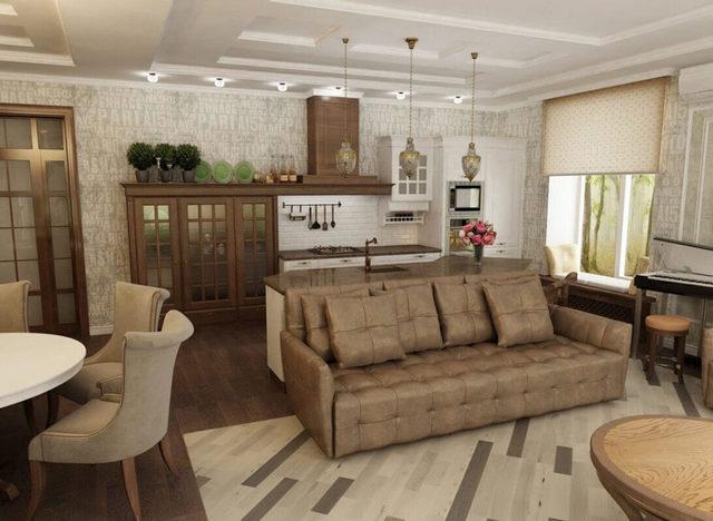 планировака гостиной в частном доме фото