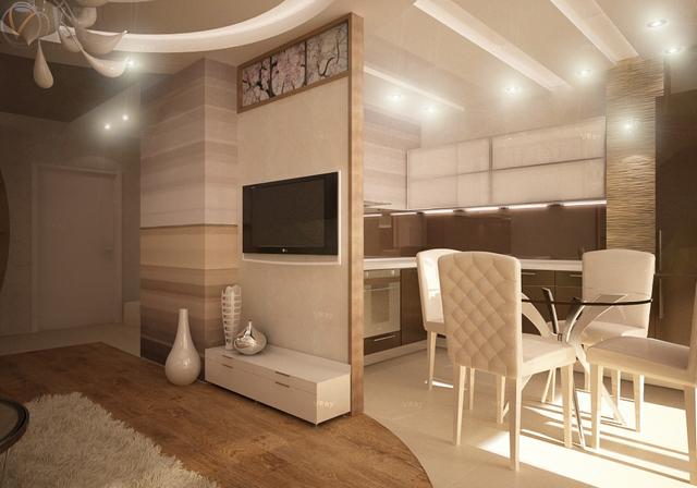 планировка гостиной в частном доме пример
