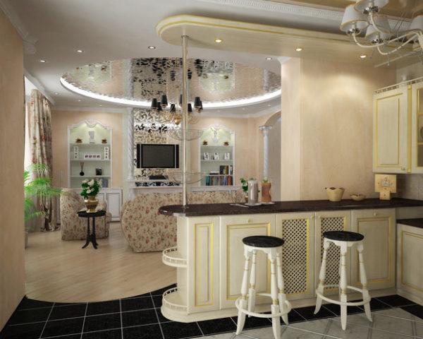 планировка гостиной в частном доме