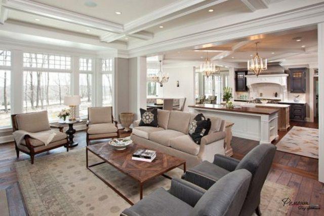 правильная планировка гостиной в частном доме