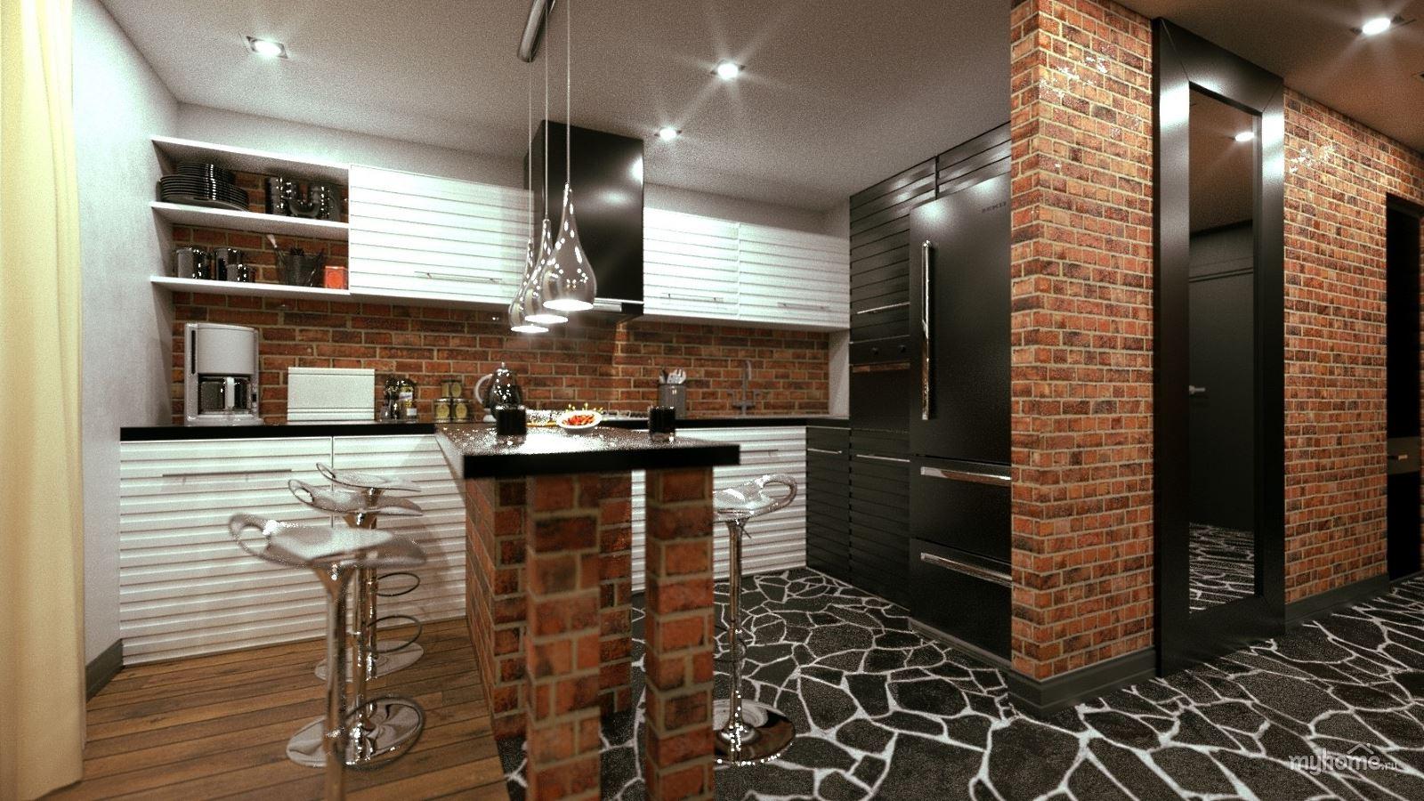 ремонт однокомнатной квартиры в стиле лофт удачный дизайн