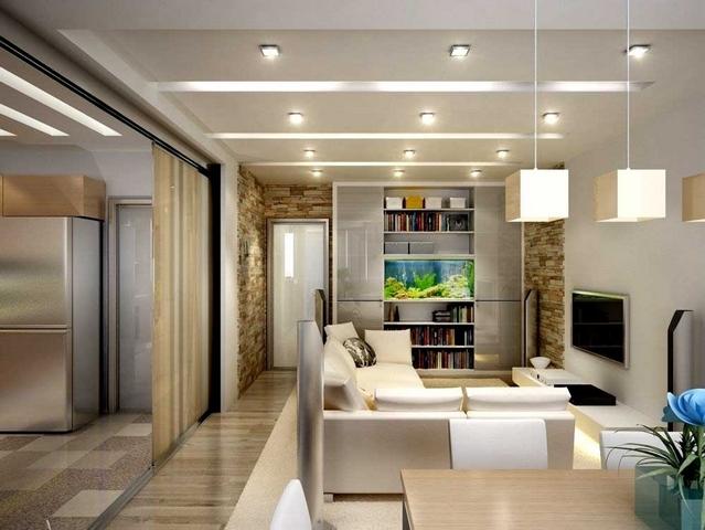 ремонт угловой однокомнатной квартиры эргономичный