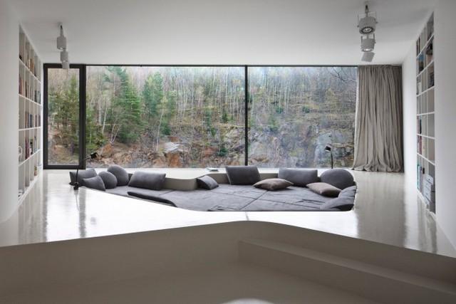 стиль минимализм в интерьере квартиры панорамные окна