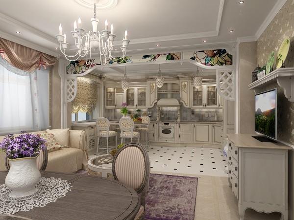 студия кухня гостиная дизайн