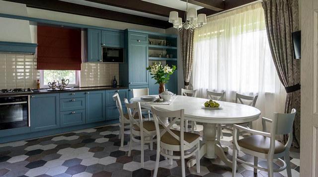 варианты гостиной кухни в частном доме