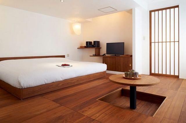 японский минимализм в интерьере квартиры на фото