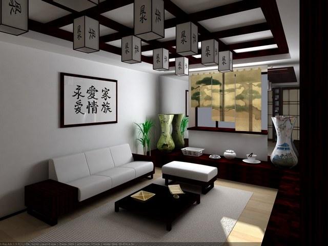 яркий интерьер квартиры в японском стиле минимализм