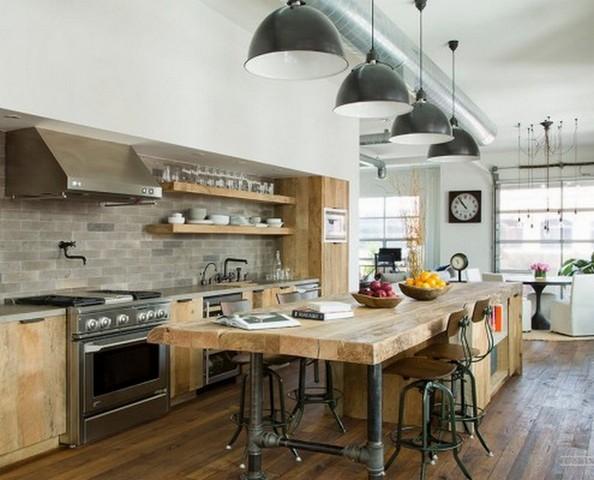 интерьер кухни студии
