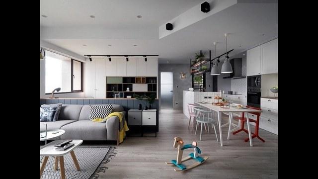кухня гостиная в скандинавском стиле большая