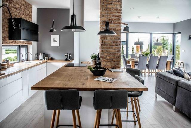 кухня в скандинавском стиле дерево