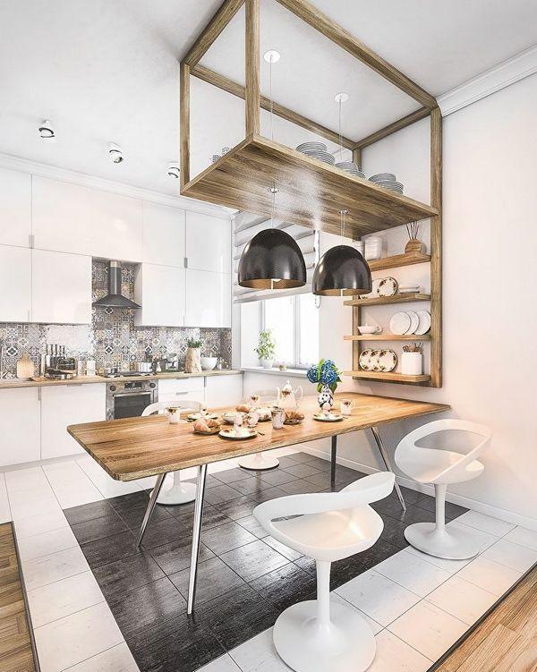 кухня в скандинавском стиле классика на фото