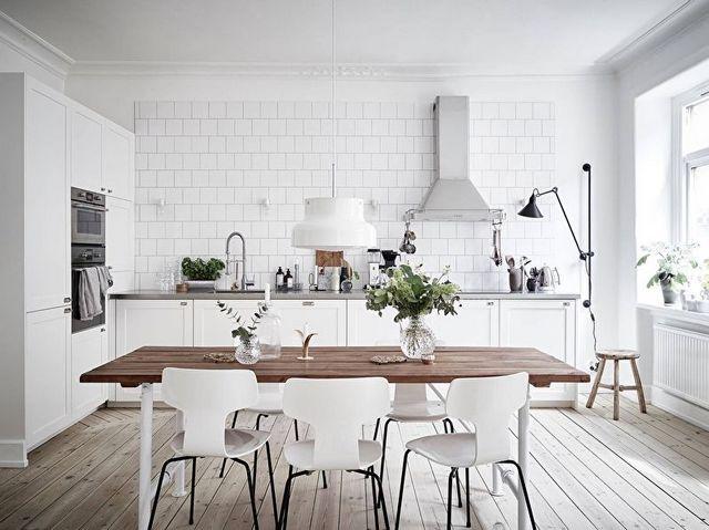 кухня в скандинавском стиле столовая