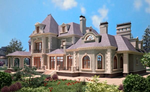 просторный дом во французском стиле