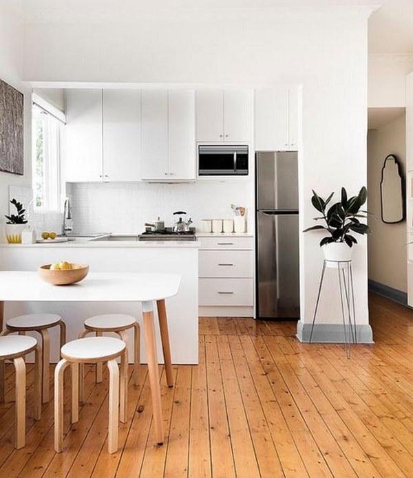 скандинавские кухни белого цвета