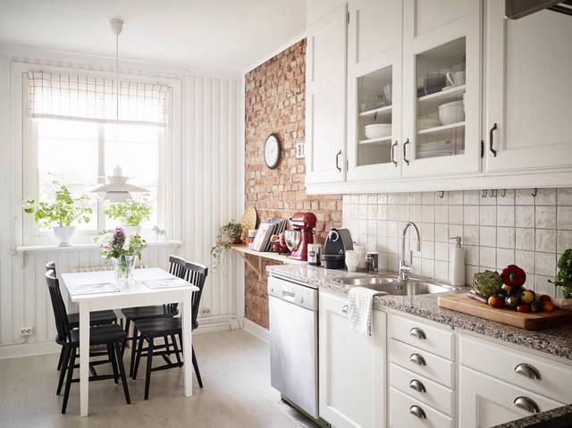 белая кухня в скандинавском стиле фото