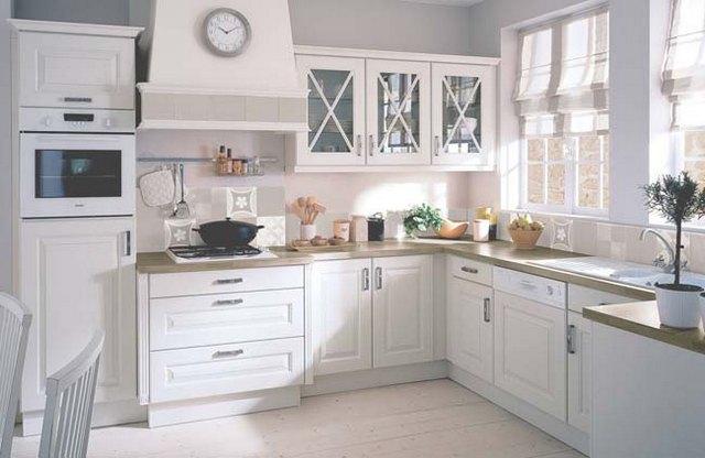 белая кухня в скандинавском стиле обстановка