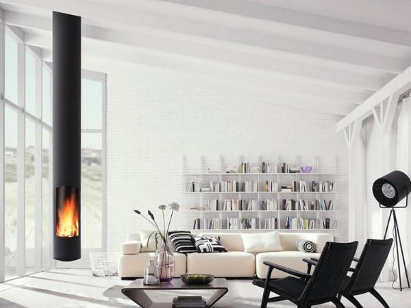 белый интерьер в скандинавском стиле минимализм гостиная