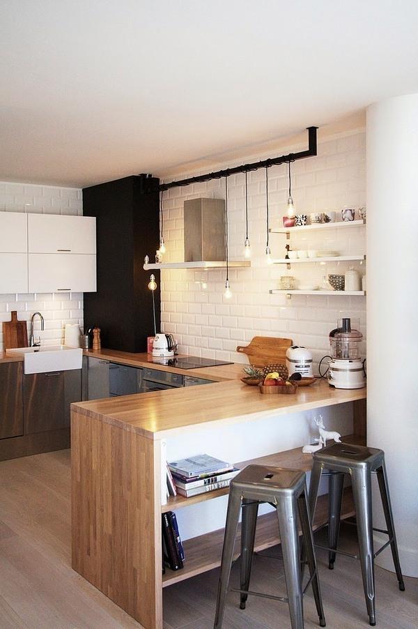 деревянная кухня в скандинавском стиле на фото