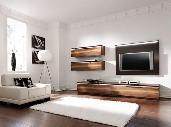 дизайн интерьера гостиной в светлых тонах в стиле минимализм