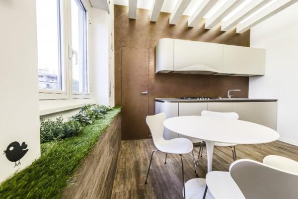 дизайн интерьера кухни в стиле эко минимализм