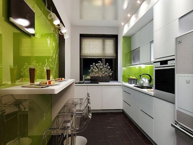 дизайн кухни столовой с барной стойкой