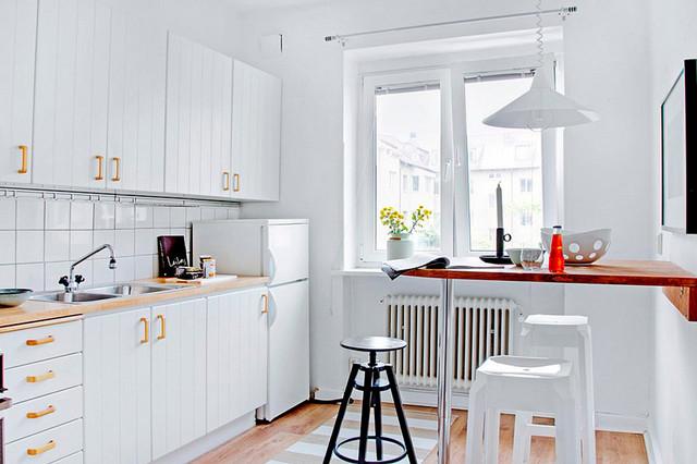 дизайн кухни в хрущёвке с барной стойкой
