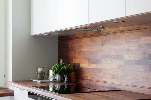 дизайн кухни в скандинавском стиле дерево