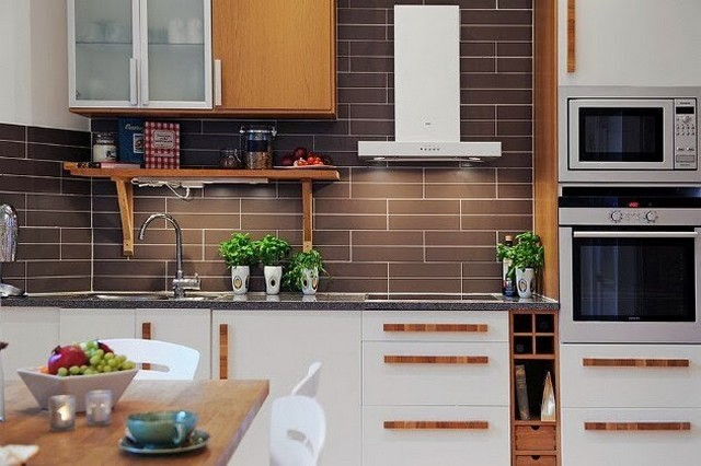 дизайн кухни в скандинавском стиле эко