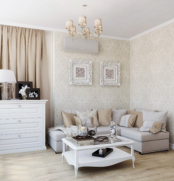 дом во французском стиле дизайн небольшой гостиной