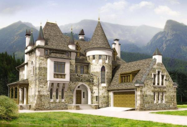 дом во французском стиле дизайн шато