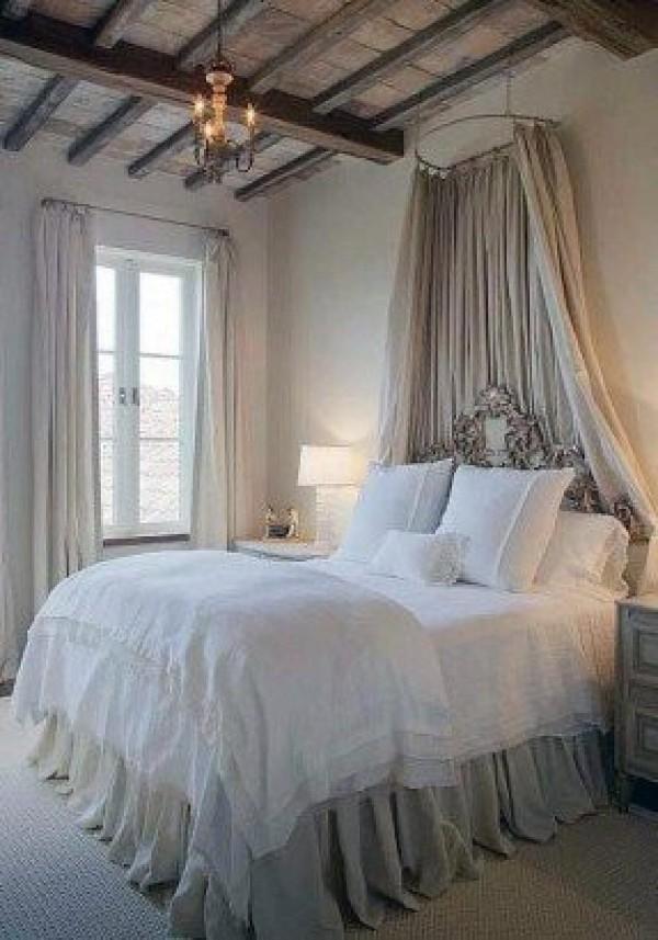 дом во французском стиле дизайн спальни прованс