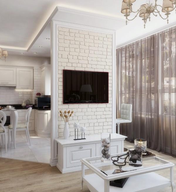дом во французском стиле гостиная студия