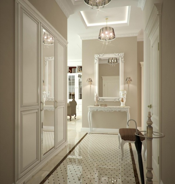 дом во французском стиле роскошный холл
