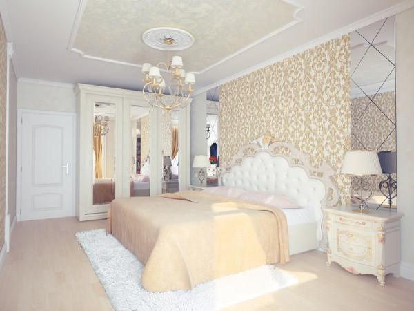 дом во французском стиле спальня в изысканном дизайне