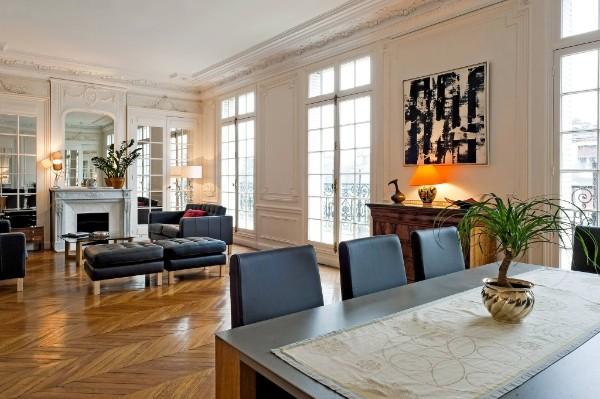 французский стиль интерьер гостиной с камином