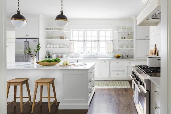 французский стиль интерьер кухни с островом